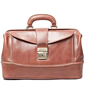 Maxwell Scott® Tan Gladstone Style Doctor Bag (DonniniS)