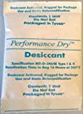 "Silica Gel Tyvek Desiccant Packets - 1 oz. 3""x4"" Moisture Absorber - 10 pcs/bag - Protects 1 Cubic Foot"