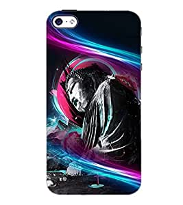 PrintDhaba Lord Buddha D-3368 Back Case Cover for APPLE IPHONE 5S (Multi-Coloured)