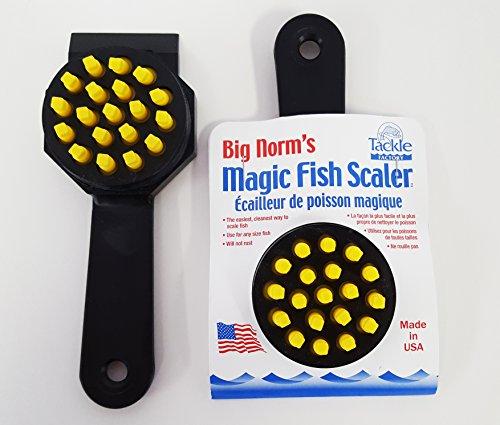 Big Norm's Magic Fish Scaler, Black (2-Pack)