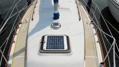 Boat RV Marine Solar Panel - Frameless, Unbreakable - Non Glass Construction. 12V Battery Charger 12 Watts. by Ganz eco-energy. (CPV-12). FREE voltage regulator included. Eligible for FREE Shipping.