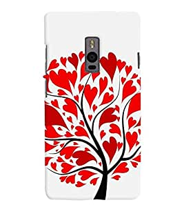 Chiraiyaa Designer Printed Premium Back Cover Case for OnePlus Two 1+2 (heart tree boy girl friend valentine miss kiss nature) (Multicolor)