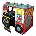 Teamson TD-11154A Fire Engine Desk and Chair Set