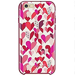 Kate Spade New York Hybrid Hard Case for Iphone 6 & 6s Confetti Hearts Crystals Diamonds