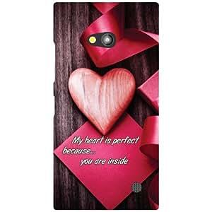 Printland I Am In Love Phone Cover For Nokia Lumia 730