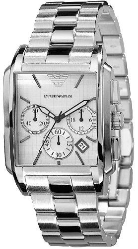 Emporio Armani - Reloj de pulsera hombre, acero inoxidable, color gris