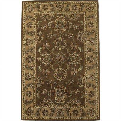 Taj Palace Mocha / Sand Agra Oriental Rug Size: 5' x 8' Rectangle