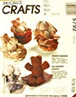 OOP McCall's Crafts Pattern 5792. Basket Buddies: Make 14 Stuffed: Bear; Cat; & Rabbit Dolls W/cozy Baskets To Live In