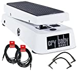 Dunlop Crybaby 105Q Bass Wah Pedal w/4 FREE Cables
