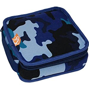Daisy Container Company ecocozie - Insulated, Reusable, Neoprene Lunch Container with Food-Safe Liner - Square (Blue Camo)