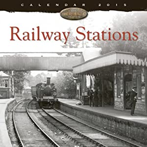 Railway Stations wall calendar 2015 (Art calendar) (Flame Tree Publishing)