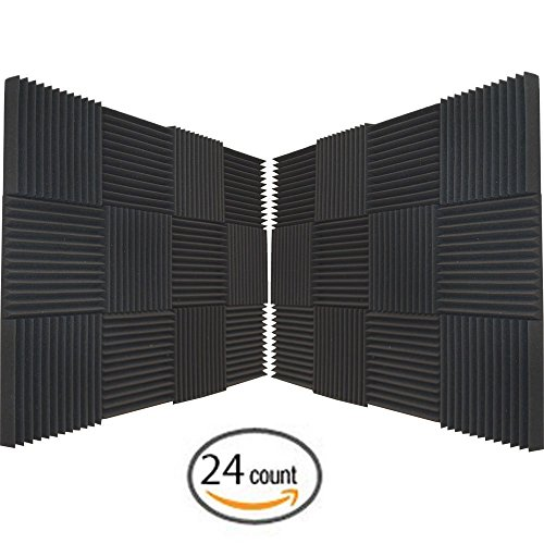 24-pack-soundproofing-foam-acoustic-tiles-studio-foam-sound-wedges-2-x-12-x-12