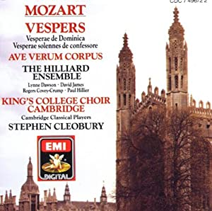 Mozart: Vespers K321 & 339 / Ave Verum Corpus