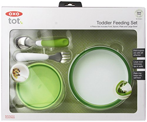 OXO Tot 4-Piece Feeding Set, Green