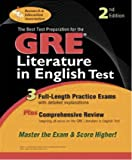img - for The Best Preparation for the GRE Literature in English Test, Second Edition book / textbook / text book