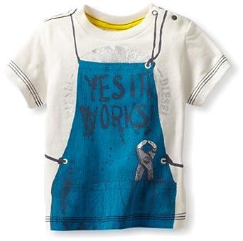 Diesel Baby-Boys Infant Tadevyb Short Sleeve Tee Shirt, Cream, 12 Months