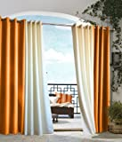 Outdoor decor Gazebo Indoor Outdoor Window Panel, 50 by 84, Orange