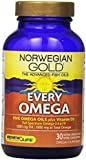 Norwegian Gold Every Omega 3,5,6,7,9 with Vitamin D3, 30-Count