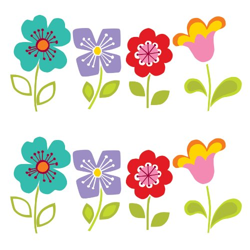 Wall Pops WPB96813 Peel & Stick Blox Wall Decals, Petals - 1