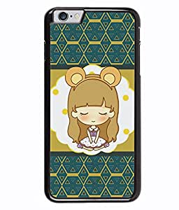 PRINTVISA A Girl Stachu Position Premium Metallic Insert Back Case Cover for Apple Iphone 6 Plus - D5980