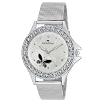 Swisstone Analogue White Dial Women Watch-VOGLR501-WHT-CH