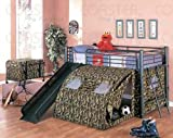 Coaster Kids GI Child Bunk Bed with Slide and Tent, Twin Size