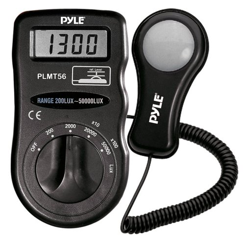 Pyle PLMT56 Light Meter with Lux Measures Up To 50000 Lux