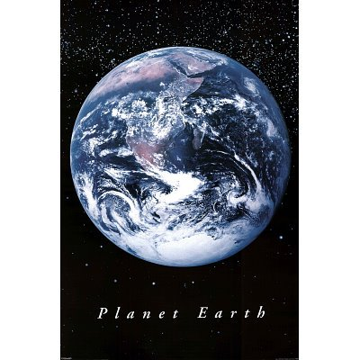 Planet Earth from Space Art Print Poster - 24x36 