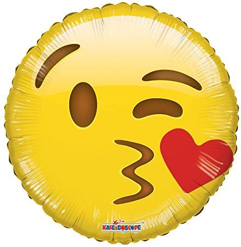 Emoji Smiley Kiss Mylar Balloons - 5 pcs