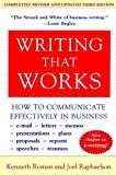 img - for Writing That Works; How to Communicate Effectively In Business book / textbook / text book