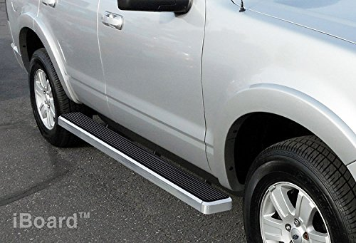 iBoard Third Generation 4-Inch Silver Aluminum Running Boards Side Step For Selected Ford Explorer 4-Door (07 Explorer Running Boards compare prices)