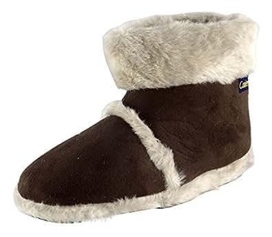 Coolers Womens Snug Slippers (Small (3-4 UK), Beige)