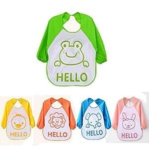 Tongshi Los niños de dibujos animados para niños plástico translúcido suave para bebés baberos impermeables(Rosa) marca Tongshi 1063 en BebeHogar.com
