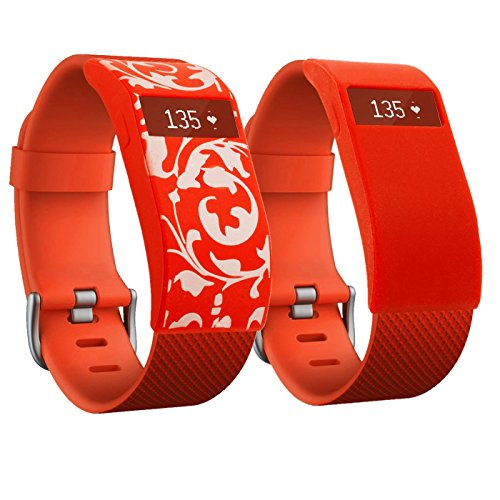 greatfine-band-cover-for-fitbit-charge-fitbit-charge-hr-slim-designer-sleeve-cover-case-red-blossom