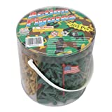 Army Men Action Figures - 202 Pieces with American, British, German & Japanese World War II Soldiers
