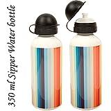 Sipper Water Bottle 350ml Lines Print
