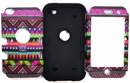 Bastex Hybrid Case for Apple Ipod Touch 4, 4th Generation - Silicone / Hard