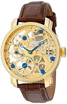 buy Akribos Xxiv Men'S Akr418Yg Bravura Mechanical Skeleton Gold-Tone Watch