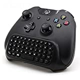 Megadream® 2.4G Mini Wireless Chatpad Message Game Controller Keyboard for Microsoft Xbox One Controller Black + Megadream Wrist Band