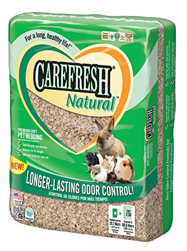Carefresh Natural Premium Soft Pet Bedding, 60- Liter 51rCqRut7tL