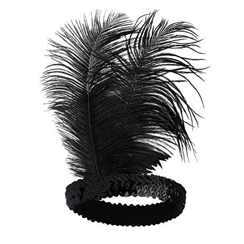Babeyond-Roaring-20s-Sequined-Showgirl-Flapper-Headband-Black-with-Feather-Plume