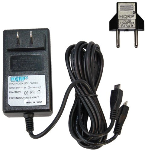 Hqrp Ac Adapter Dual Microusb Charging Cable For Lg Optimus G / Lg Optimus G Pro / Lg G Pro / Lg G Pro 2 / Lg Optimus L9 / Lg Spirit (Metropcs) / Lg G Flex 4G Lte Android Phone, Battery Dual Usb Charger Plus Hqrp Euro Plug Adapter front-57919