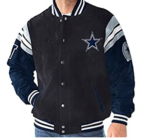 NFL Dallas COWBOYS Officially Licensed Suede Varsity Jacket ~2X by G 111