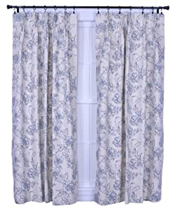 Ellis Curtain Andrea Thermal Insulated 96-by-84-Inch Pinch Pleated Panel Pair Curtains, Wedgewood