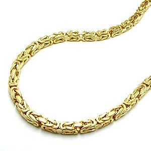 Armband 3mm Königskette Vierkant gold-plattiert 19cm 237000-19