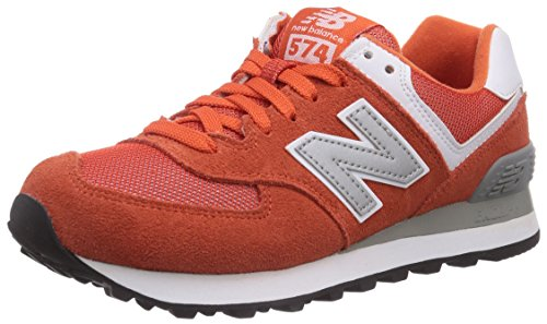 888546369627 - New Balance Men's ML574 Picnic Pack Collection Classic Running Shoe, Orange/Silver, 7 D US carousel main 0