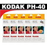 Kodak PH40 Color Cartridge & Photo Paper Kit for Kodak EasyShare Printer Docks (5 Packs)
