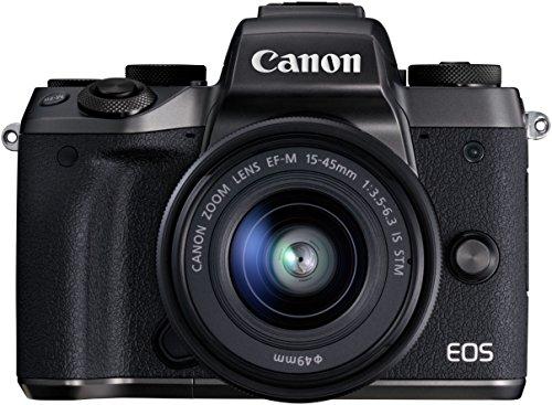 Canon-EOS-M5-EF-EOS-M-Adapter-Canon-1279C044-Spiegellose-Digitalkamara-242-Megapixel-APS-C-CMOS-Sensor-WiFi-NFC-Full-HD-EF-EOS-M-Adapter-schwarz