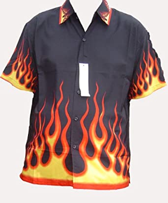 Boston fire flame shirt black large for On fire brand t shirts