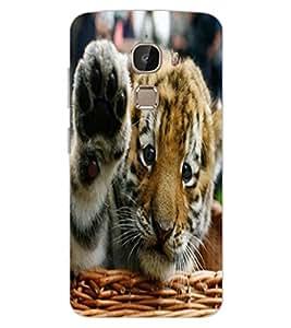 ColourCraft Cute Tiger Cub Design Back Case Cover for LeEco Le 2